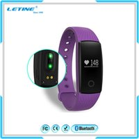 Wholesale Heart Rate Monitor For Android - Fitbit Smart Watch ID107 Bluetooth 4.0 Smart Bracelet with Heart Rate Monitor Fitness Tracker Sports Wrist Watches for Android IOS Phone