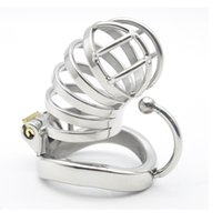 Wholesale Large Ring Male Chastity Devices - Stainless Steel Male Chastity large Cage with Base Arc Ring Devices C274