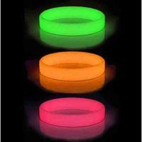 Wholesale Glow Dark Silicone Bracelets - 100pcs lot glow in the dark silicone bracelets wristband without logo test printed,luminous bangles promotion gift FREE SHIPPING