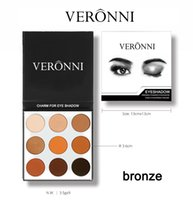 Wholesale Easy Tone - Best Quality Veronni 2017 New Cosmetics Eyes Makeup Palette Eyeshadow Earth Tone Make-up Plate Eyeshadow Palettes 9 Colors Eyeshadow Palette