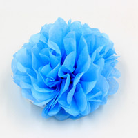 Wholesale Wedding Car Decorations Supplies - Wholesale- 1pcs Largr 12inch Props Car Decoration Flowers For Wedding Car Supplies Tissue Paper Pom Poms Wedding Party Festival Decoration