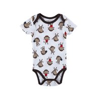 Wholesale Toddler Monkey Clothes - New Summer Cartoon Boys Girls Rompers New 2017 Monkey Animal Printed Jumpsuit 1pc Cheaper Clothes Value Toddler Romper Jumpsuits A7766