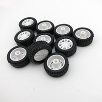 Wholesale Wheels For Toy Cars - F17678 Feichao 10Pcs 20*8*1.9mm Rubber Hollow Tire Car Wheel Model Wheels DIY Toy Accessories for Car