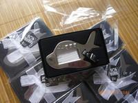 Wholesale Airplane Chrome - Wedding Favors Airplane Luggage Tag Chrome Handbag Tags Bridal Shower Favors Luggage Tags+60pcs lot