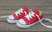 ingrosso scarpe dimensioni 23-Dimensioni 23-34 Immagini reali High Low Bambini Sneakers per bambini Ragazzi Ragazze Scarpe Bambino Scarpe di tela Scarpe casual per bambini