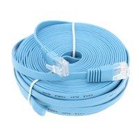 Wholesale Laptop Flat Cables - High Speed Cat6 Ethernet Flat Cable RJ45 Computer LAN Internet Network Cord 0.5m 1m 3m 5m 10m 20m 25m 30m 98.42ft LAN cable 2016