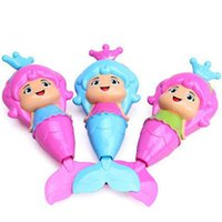 Jouets De Bain En Gros Pas Cher-Vente en gros- 2017 Baby Cute Mermaid Clockwork Bath Toy Classic Swimming Water Wind Up Toy Livraison gratuite