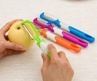 Wholesale kitchen apple slicers for sale - Group buy Long handle Stainless Steel Peeler Potato Apple Peeler Vegetable Fruit Tools Kitchen tool