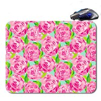 Wholesale Rubber Skid Mats - Latest Lilly Pulitzer Seashell multi-color print anti-skid custom mouse pad computer PC Nice game Mouse mat as a gift
