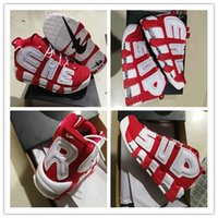 Wholesale Elastic Sneakers - Wholesale air Pippen Basketball Shoes 4 Colors White Red Sports Shoes Discount Mens Shoes Basketball Sneakers Men Athletics With Box