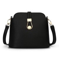Wholesale Messenger Bag Minimalist - Wholesale- 2016 Hot! Women Fashion Messenger Bags Mini Shell Shape Bags Woman Shoulder Bags Female Minimalist Leather Crossbody Bag YZ1405