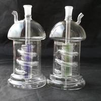 pipa de setas envío gratis al por mayor-Mushroom tray alambre mangueras de filtro de vidrio bongs accesorios, venta al por mayor accesorios de bongs de vidrio, vidrio hookah, tubo de agua humo envío gratis