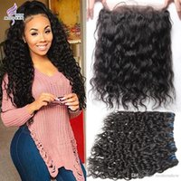 Wholesale Wavy Hair Part - 360 Lace Frontal with Bundles Wet and Wavy Brazilian Virgin Hair with Lace Frontal Brazilian Human Hair Weave Bundles with 360 Lace Frontal