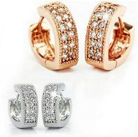 Wholesale Sterling Heart Love - Fashion Heart Love Stud Earrings 925 Sterling Silver Luxury Women Stud Brincos with Rhinestones High Quality Stud Jewelry for Women