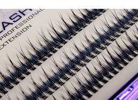 Wholesale Eyelashes Knot - 0.07mm Ultra Soft New Individual Mink Eyelash Extension Fishtail shape120root Knot Free Cluster Eye Lashes Natural Makeup Tool