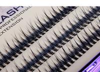 knotenfreie wimpern großhandel-0,1mm Ultra Soft New Individuelle Nerz Wimpernverlängerung Fishtail shape120root Knoten Kostenlose Cluster Eye Lashes Natürliche Make-Up-Tool