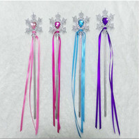 gem supplies 2018 - Fairy Wand Ribbons Streamers Christmas Wedding Party Snowflake Gem Sticks Magic Confetti Props Decoration Events Favors Supplies