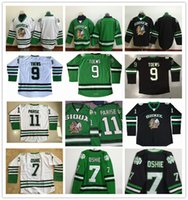 Men black fighting - Cheap limit Jonathan Toews Jersey Double Stitched Zach Parise TJ Oshie North Dakota Fighting Sioux hockey Jersey Black Green white