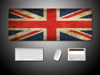 Wholesale Mouse Pad Cartoons - the Union Flag large Mousepad mouse pad 80*30cm for gaming funs gift Mouse pad beautiful table reading desk mat for gaming cartoon One piece