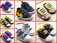Wholesale Soft Sole Casual Leather Shoes - 2016 baby cartoon toddler shoes 11CM 12CM 13CM children spring & autumn casual shoes boys fashion soft soled shoes 12pair 24pcs B3