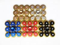 metal dişli oyuncakları toptan satış-Sıcak 9 Tekerlekler Pirinç Fidget spinner metal Gadget 9 DIŞLI El Spinners 5 renkler iplik Üst Makine Parmak Gyro Anksiyete Öldürme Zaman Oyuncaklar