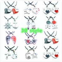 Wholesale Locking Slide Clasp - Valentine's Day Gift Key Lock Pendant Charms Students lovers friend Lobster Clasp Pendant Necklaces