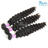 3 confezioni Deep Curly Wave Indian Virgin Hair Weaves Tessuto Confezioni Deep Extremely Curl Remy Estensioni dei capelli umani Natrual Black Color
