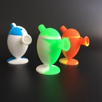 Wholesale Tall Glasses Wholesale - DHL free shipping 2.9inch tall Silicone Blunt Bong Travel Bongs silicone bubble blunt Dab Rig silicone Bubbler Oil Rigs Glass Water Pipes