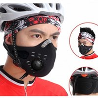 Half Face Cyclisme Masque Randonnée SKI Conduite Outdoor Sports Masks Equitation Travel Windproof Caps MTB Road Santé respirant Black Face Cap