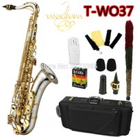Wholesale Tenor Sax Accessories - Wholesale- Brand NEW YANAGISAWA Tenor Saxophone T-WO37 Bb Nickel Plated Gold Key Professional Sax Mouthpiece With Case and Accessories