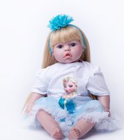 Wholesale Cheap Vinyl Dolls - 50cm Special Cheap Price Silicone Reborn Baby Dolls Toy Girl Brinquedos Vinyl Princess Dolls Kids Christmas Present New Year Gif