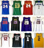 Wholesale Piercing Balls - Brandon Ingram Lonzo Ball High School Jersey Markelle Fultz College Basketball Jerseys Pierce Oscar Robertson John Stockton Brian Scalabrine