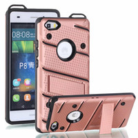 Wholesale Iphone Mate - Hybrid For Samsung S8 Plus Armor Case Soft TPU PC Kickstand Shell Shockproof Cases Cover For iPhone 6 6s 7 8 plus 5 5s Huawei Mate 9 Pro