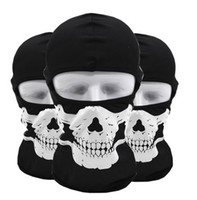 Wholesale Tactical Ghost Mask - Tactical hood outdoor cycling Face masks ghost Skull head Mask Motorcycle Skiing Cycling Full Hood Halloween party cosplay costumes mask