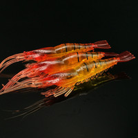 Wholesale Soft Lure Red Head - 10pcs 7cm 3.5g Red head simulation shrimp Silicone Lures fishing bait Soft baits Artificial Pesca Tackle Carp Fishing Accessories