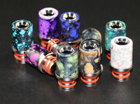 Wholesale e cigarettes mouth pieces - e cigarette vape drip tip colorful splash spatter 510 thread resin stainless steel driptip mouth piece hot cheap items wholesale china
