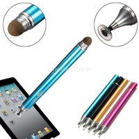 Wholesale Ipad Mobile Cases - Wholesale-2 in1 Precision Disc Capacitive Resistive Stylus Touch Click Pen Kit Case for iPhone  Samsung  iPad Mobile Cellphone Tablet