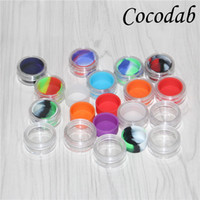 Discount wholesale mini acrylic box Clear plastic acrylic e liquid case wax holder box 5ml mini acrylic bho jars silicone jars dab wax vaporizer oil container silicone jar