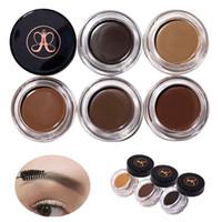 Wholesale Hot Chocolate Packaging - HOT Pomade Medium Brown Waterproof Makeup Eyebrow Enhancers 8 Colors Blonde Chocolate Dark Brown Ebony Auburn With Retail Package