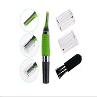 Wholesale Shaver Woman - 2017 Multifunctional and Personal Face Care Stainless Steel Nose Hair Trimmer Removal Clipper Shaver w  LED light for Men and Women