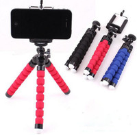 Wholesale holder for tripod - Mini Flexible Camera Phone Holder Flexible Octopus Tripod Bracket Stand Holder Mount Monopod for iphone 6 7 8 plus smartphone