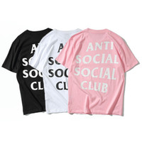Wholesale Black Scoop - Anti Social Social Club Y E EZY Brand Hip Hop T Shirt Men T-shirt and GD Kanye West Short Sleeve Men TShirt S-XL in Tee Shirts