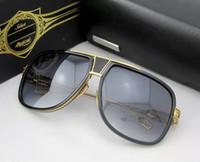 Wholesale dark blue goggles online - 2017 Brand Grandmaster Five Sunglasses DRX Black Gold Dark Brown Gradient UV400 Lens Sunglasses Mens with The original box
