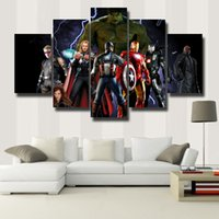 5 Pcs / Set Modern Abstract Wall Art Painting Canvas Painting para Sala de estar HomeDecor Picture Beautiful picture # 110