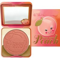 Wholesale Hot Bronzer - Hot PAPA Don't PEACH Colors Baked Blush Bronzer Cosmetic Natural Baked Blusher Powder Palette Charming Cheek Color Makeup Face Blush Palette