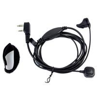 Wholesale Kenwood Ptt - Headset Earpiece 2 Pin Finger PTT Ear Bone Vibration Conduction for Kenwood Baofeng UV-5R BF-888S Ham Radio Walkie Talkie C2015A