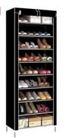 siyah sözleşme toptan satış-Yeni Moda Siyah Gri Kahve Mor Sözleşmeli Mini Tek Katmanlı 10 Büyük Kapasiteli Ayakkabı Raf Metal Yapısı Dokunmamış Kumaş Ayakkabı Raf