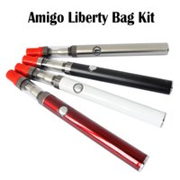 Wholesale zipper buds - Authentic Amigo Liberty Tank Amigo Zipper Kits Oil 0.5mL  1.0mL 510 Battery 380mAh Bud Touch Vaporizer Pen Kits