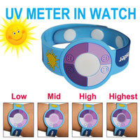 Wholesale Protect Bracelet - Uv Test Gift UV Bracelet Watch to Test the Ultraviolet Rays Uv Tester Best Gift to Skin Protect