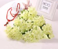 Wholesale Fresh Craft - 1 Bouquet Artificial Craft Hydrangea Party Wedding Bridal Plastic Flower Fresh Silk Hydrangea Decor